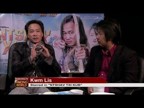"""Kabyeej talks with Kwm Lis about his latest movie, """"Ntshav Txi Kub""""."""