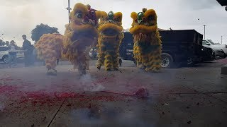 chinese new year 2019 :: ykm sf firecrackers and lion dance milpitas square ranch 99