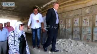 بالفيديو : محافظ القليوبية يتفقد موقع هبوط كوبرى الشموت ببنها ...