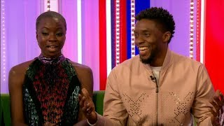 BLACK PANTHER 2018 Chadwick Boseman & Dania Gurira interview