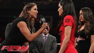 Brie Bella vs. Stephanie McMahon SummerSlam contract signing: Raw, Aug. 4, 2014