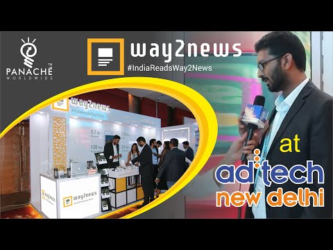 Exhibition Stand Design & Build for Way2Online at AdTech - Panache Exhibitions