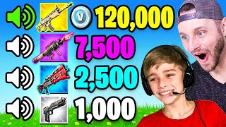 GUESS The SOUNDS w/ MY SON For 100k VBUCKS (Fortnite)