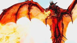 Wyvern Em Chamas! Voando em Busca de Alimentos + Cuspindo Fogo | Day of Dragons Realismo | (PTBR)