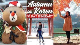 Travel Vlog : AUTUMN in SEOUL, KOREA (10 Day Itinerary)