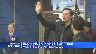 Elon Musk makes surprise visit to Flint School