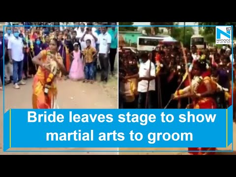 Viral video: Bride leaves stage to show martial arts to groom in Tamil Nadu