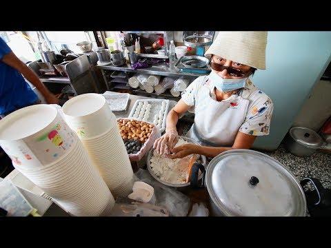 Taiwanese Breakfast Street Food Tour | EXTREMELY Unusual Almond Egg Tea - STREET FOOD IN TAIWAN