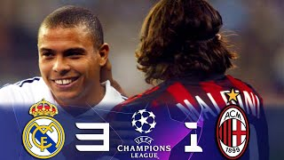 Real Madrid vs AC Milan 3-1 #UCL 2nd Leg Group Stage 2002/03 All Goals & Highlights