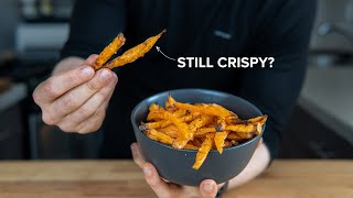 Why it's (almost) impossible to make Crispy Sweet Potato Fries in the oven.