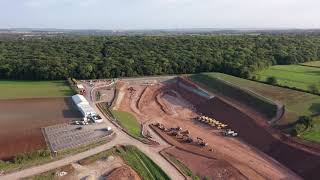 HS2 Construction - Long Itchington Wood Tunnel North Portal - 2020-09-19