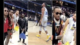 Quavo Ask Stephen Curry For Game Shoes After NBA Finals