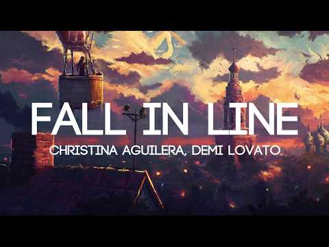 Christina Aguilera - Fall In Line ft. Demi Lovato (Lyrics/Lyrics Video)