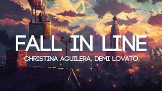 Christina Aguilera - Fall In Line ft. Demi Lovato (Lyrics/Lyrics Video)