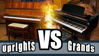 Upright pianos versus Grand pianos - Uprights Vs. Grands