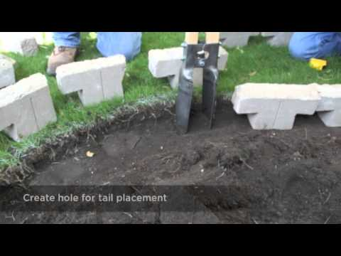 Installing Edging Using Tango™ Lawn-and-Garden Project Block