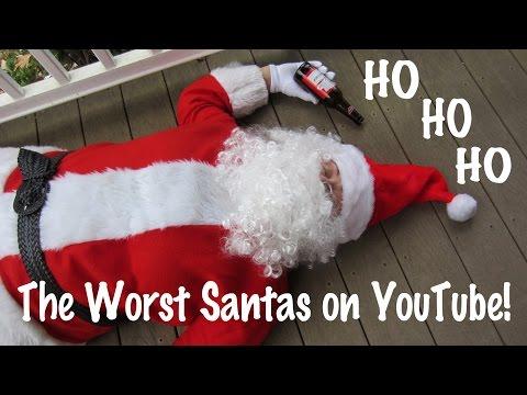 😁 Santa Claus  - HO HO HO - Worst of YouTube  - Compilation with 6 Santa's ✅