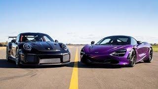 DRAG RACE!! PORSCHE GT2 RS vs MCLAREN 720S