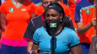 Serena Thanks Fans