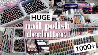 HUGE Nail Polish Declutter   Getting Rid of Most of My Nail Polish Collection!