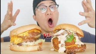 ANIMAL STYLE SHAKE SHACK VS IN-N-OUT BURGER MUKBANG | EATING SHOW
