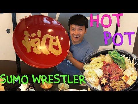SUMO Wrestler Food! Hot Pot With Meatballs in Tokyo Japan