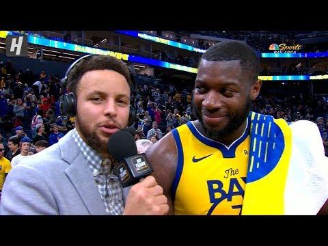 Stephen Curry INTERVIEWS Eric Paschall - Magic vs Warriors | January 18, 2020 | 2019-20 NBA Season