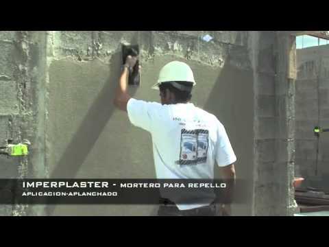 Imperplaster mortero para repello youtube - Aplicacion de microcemento en paredes ...