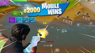 MY 2000th WIN ON FORTNITE MOBILE (Fortnite Mobile Battle Royale Gameplay)