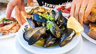 Greek Islands FOOD TOUR in Crete - Seafood and MOUTHWATERING Gyros in Chania!
