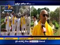 TDP MPs Protest Intensified at Outside Parliament Seeking Special Status to AP