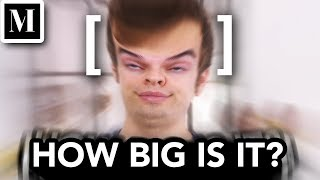 We Calculated the EXACT size of Jacksfilms Forehead