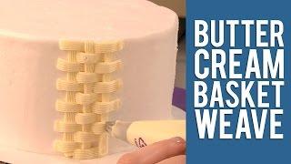 Buttercream Basketweave Technique