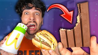 I Only Ate Foods The WRONG WAY for 24 Hours! (IMPOSSIBLE FOOD CHALLENGE)