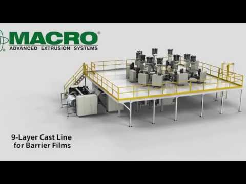9 Layer Cast Film Coextrusion Line for Barrier Films