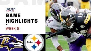 Ravens vs. Steelers Week 5 Highlights   NFL 2019