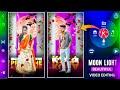 Moon light beautiful love status video making in kinemaster in telugu