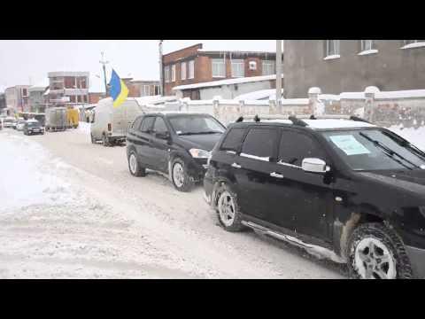 Початок автопробігу чернівецького Автомайдану