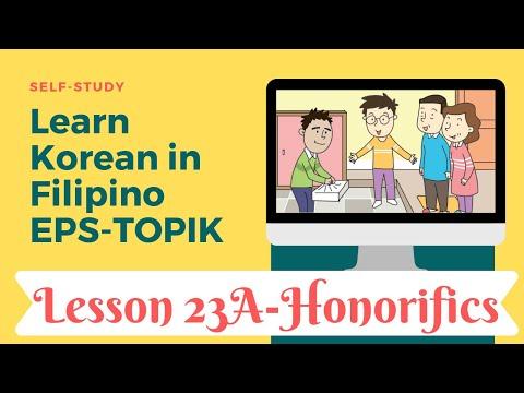 Self-study EPS-TOPIK 23A in Filipino