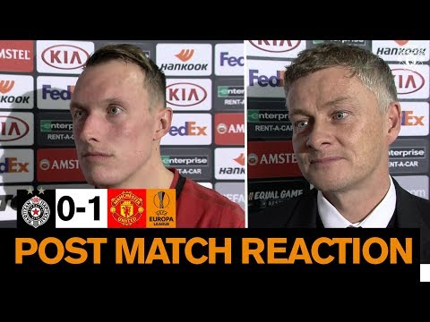 Solskjaer & Jones reflect on Manchester United win over Partizan Belgrade   Europa League