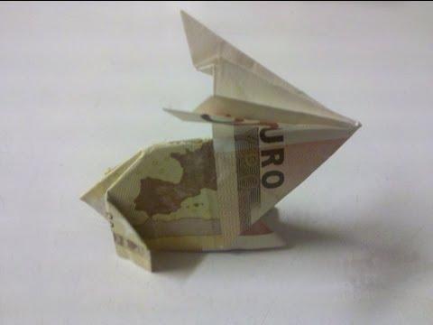 Hase aus Geldschein falten - Origami - Geldgeschenk!