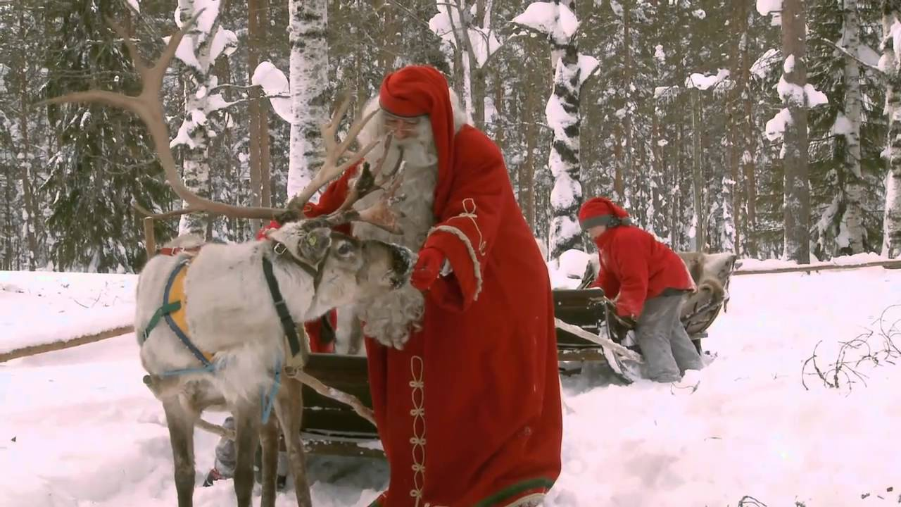 Santa Claus Reindeer Ride Lapland Finland Father