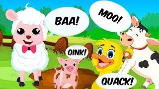 Animal Sound Song | Nursery Rhymes | Cartoons by ABC Heroes