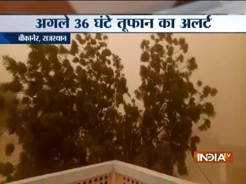 Massive standstorm hits Bikaner in Rajasthan