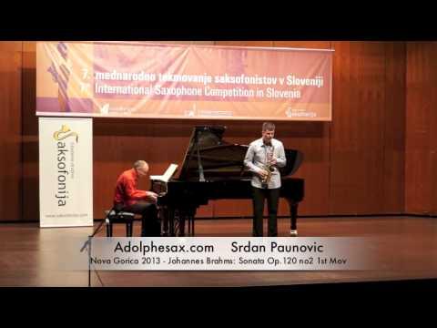 Srdan Paunovic - Nova Gorica 2013 - Johannes Brahms: Sonata Op 120 no2 1st Mov