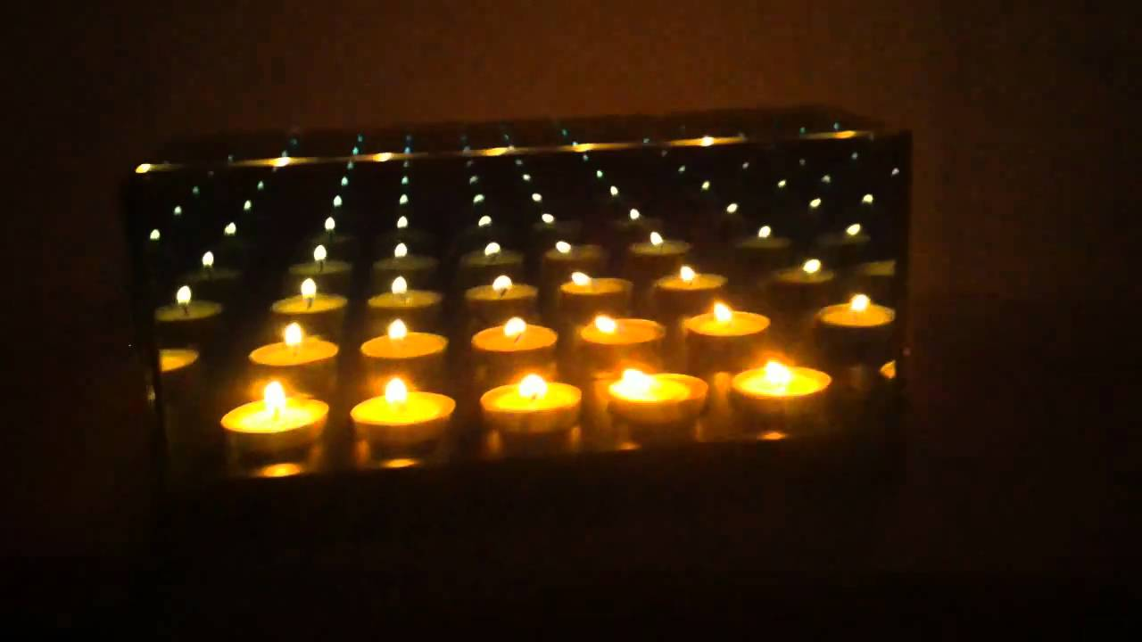Infinity Mirror Candle Box 5 Candle Youtube