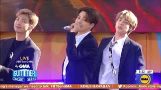"""BTS sings """"Boy With Luv"""" Live in Concert GMA May 15, 2019 HD 1080p"""
