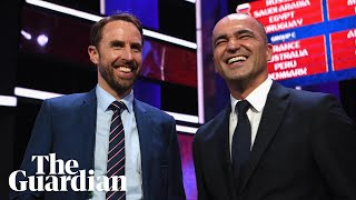 England manager Gareth Southgate on the World Cup draw