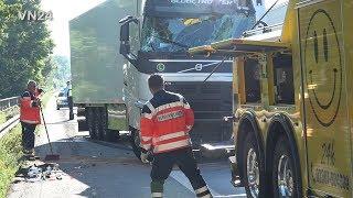 18.06.2019 - VN24 - LKW rammt LKW am Stauende - Bergung und Abschleppaktion