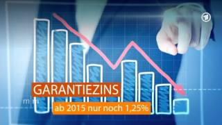 Lebensversicherung: Garantiezins für Neuverträge sinkt ab 2015 auf 1,25 Prozent